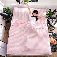 2018新款-苏秦被业 针织棉隔脏睡袋  亲肤睡袋  旅行睡袋 粉色0.8*2.1