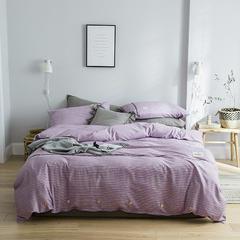 2019新款-北欧风时尚四件套 1.2m(4英尺)床 休闲紫