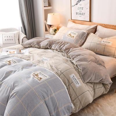 2019秋冬新品 水晶绒保暖单品床单 180cmx230cm 布拉格