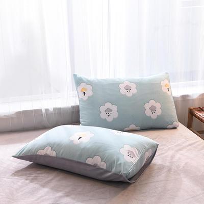 2019秋冬新品 水晶绒保暖单品枕套 48cmX74cm/一对 天气预报