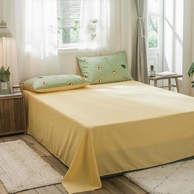 2019新款-德国绒单床单 180cmx230cm 牛油果绿