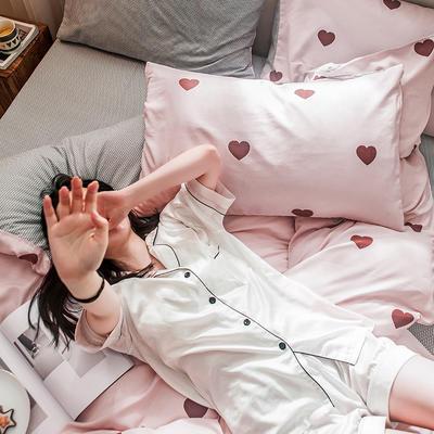 2019新款-德国绒单枕套 48cmX74cm/一对 心有灵犀