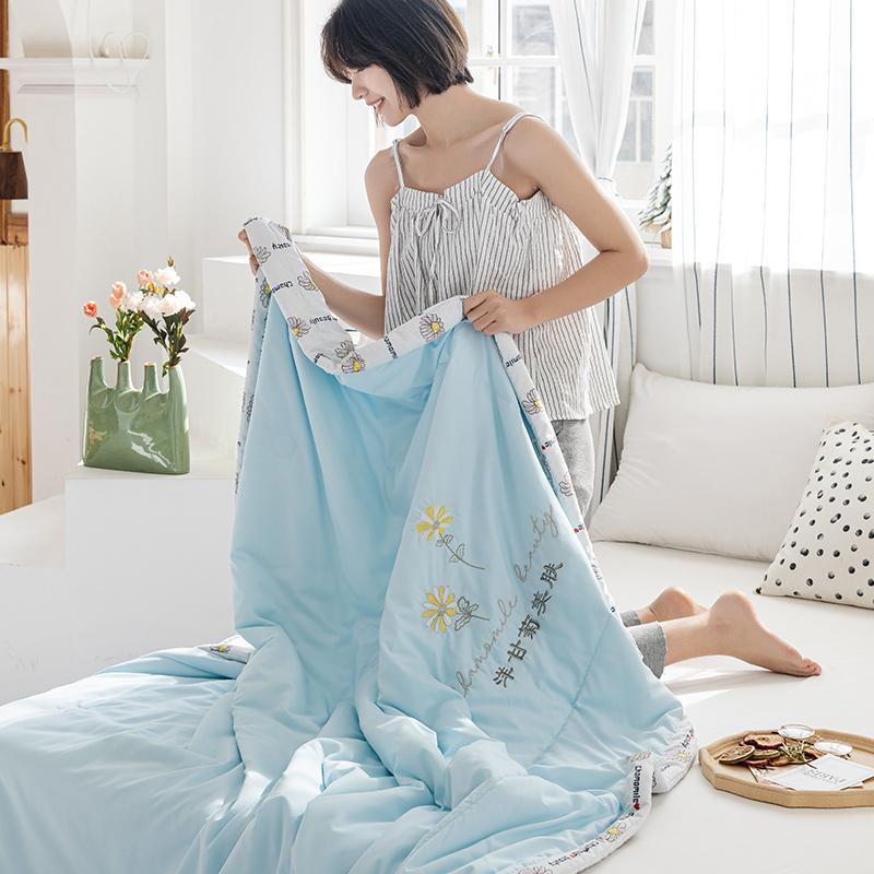 2020新品-舒氧棉绣花夏被 舒适夏被 绣花夏凉被 水洗夏被被子