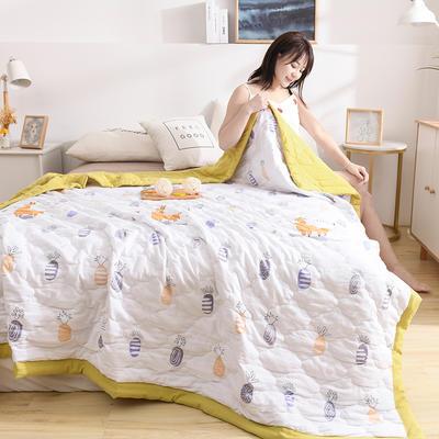 2020新品-水洗棉印花夏被 水洗棉夏被 夏被空调被子舒适夏被 0.7*1.0 菠萝蜜