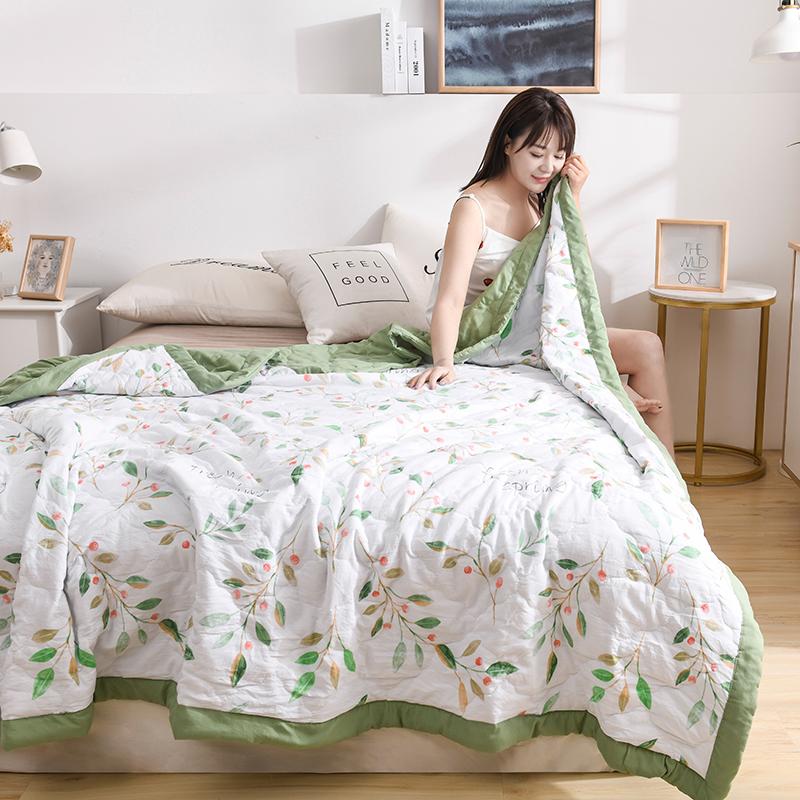 2020新品-水洗棉印花夏被 水洗棉夏被 夏被空调被子舒适夏被