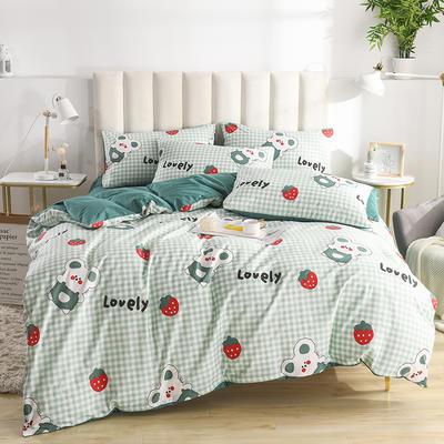 2020新款-全棉印花13372四件套 床单款三件套1.2m(4英尺)床 贝塔