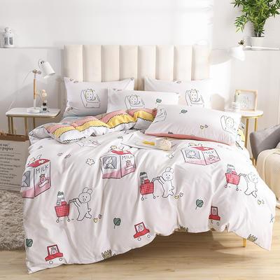 2020新款-全棉印花13372四件套 床单款三件套1.2m(4英尺)床 多彩