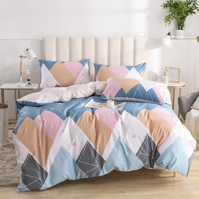 2020新款-全棉印花13372四件套 床单款三件套1.2m(4英尺)床 蓝色星空