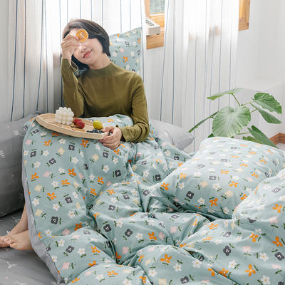 2020新款-全棉印花13372四件套 床单款三件套1.2m(4英尺)床 灵蹄
