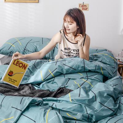 2020新款-全棉印花13372四件套 床单款三件套1.2m(4英尺)床 零度