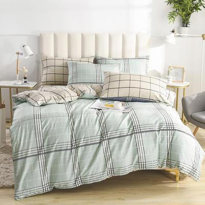 2020新款-全棉印花13372四件套 床单款三件套1.2m(4英尺)床 摩纳哥-绿