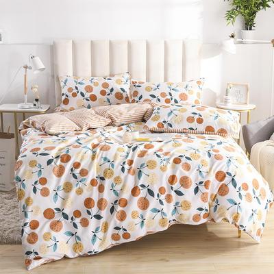 2020新款-全棉印花13372四件套 床单款三件套1.2m(4英尺)床 沐春