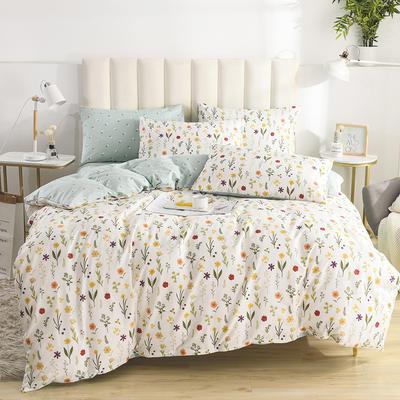2020新款-全棉印花13372四件套 床单款三件套1.2m(4英尺)床 诺草
