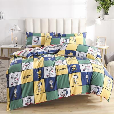 2020新款-全棉印花13372四件套 床单款三件套1.2m(4英尺)床 史努比