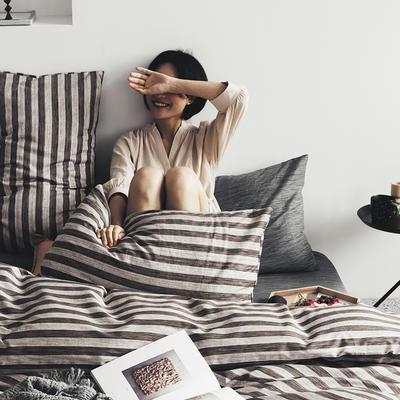 2020新款-全棉印花13372四件套 床单款三件套1.2m(4英尺)床 雾都