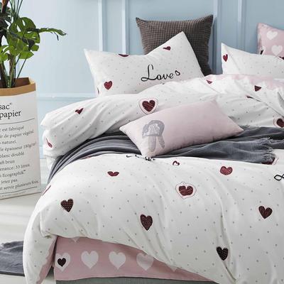 2020新款-全棉印花13372四件套 床单款三件套1.2m(4英尺)床 心纹