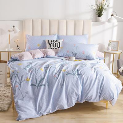 2020新款-全棉印花13372四件套 床单款三件套1.2m(4英尺)床 秀禾