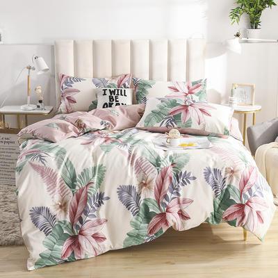 2020新款-全棉印花13372四件套 床单款三件套1.2m(4英尺)床 寻彩