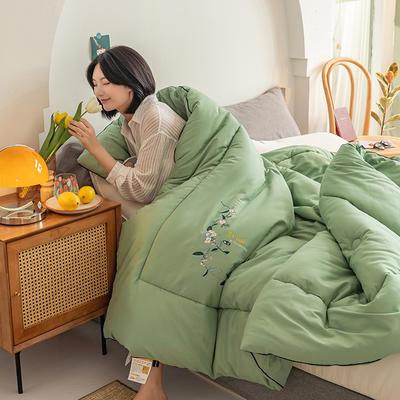 2020秋冬新款-大豆薄荷清香被被子被芯 秋冬1.5*2.0cm4.5斤 秋冬薄荷绿