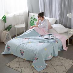 全棉棉花夏被 150x200cm 安娜苏-蓝
