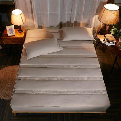 床笠 酒店风格水洗棉夹棉床笠(3件套) 枕套一对 卡其