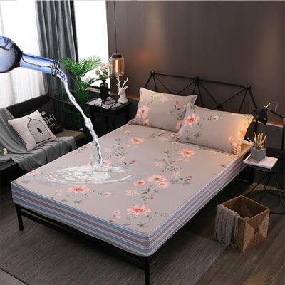 防水床笠全棉印花隔尿透气纯棉床罩床单床裙床套 100cmx200cm 北欧风尚