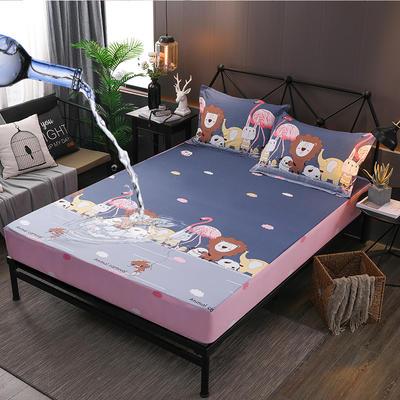 防水床笠全棉印花隔尿透气纯棉床罩床单床裙床套 100cmx200cm 绿野仙踪