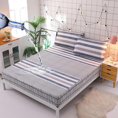 防水床笠全棉印花隔尿透气纯棉床罩床单床裙床套 100cmx200cm 米尔顿
