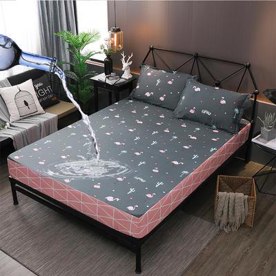 防水床笠全棉印花隔尿透气纯棉床罩床单床裙床套 100cmx200cm 丛林漫步