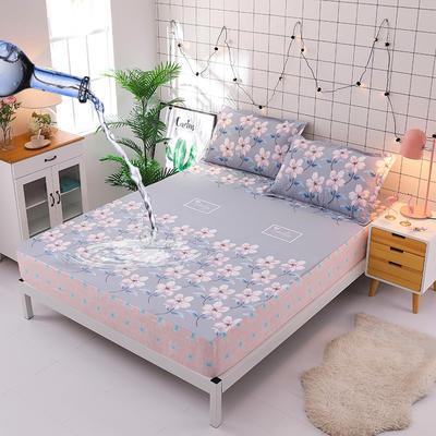 防水床笠全棉印花隔尿透气纯棉床罩床单床裙床套 100cmx200cm 清丽花香