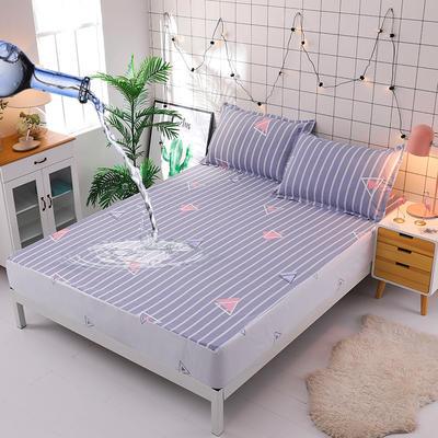 防水床笠全棉印花隔尿透气纯棉床罩床单床裙床套 100cmx200cm 生活几何