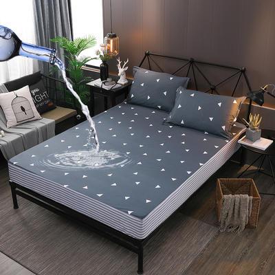 防水床笠全棉印花隔尿透气纯棉床罩床单床裙床套 100cmx200cm 首尔之约