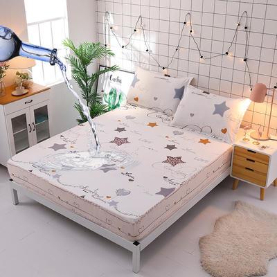 防水床笠全棉印花隔尿透气纯棉床罩床单床裙床套 100cmx200cm 星尚