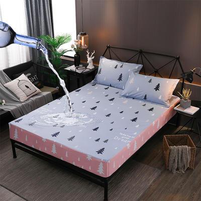 防水床笠全棉印花隔尿透气纯棉床罩床单床裙床套 100cmx200cm 伊顿庄园