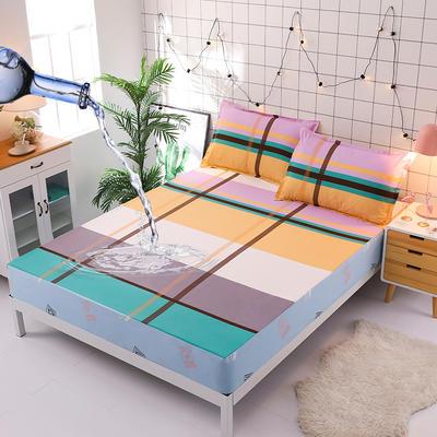 防水床笠全棉印花隔尿透气纯棉床罩床单床裙床套 100cmx200cm 意大利风情