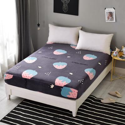 法莱绒床笠单件珊瑚绒法兰绒水晶绒床罩单品 120cmx200cm 云朵朵