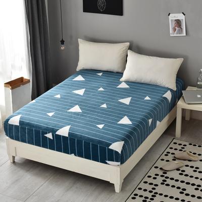 法莱绒床笠单件珊瑚绒法兰绒水晶绒床罩单品 120cmx200cm 三角细条