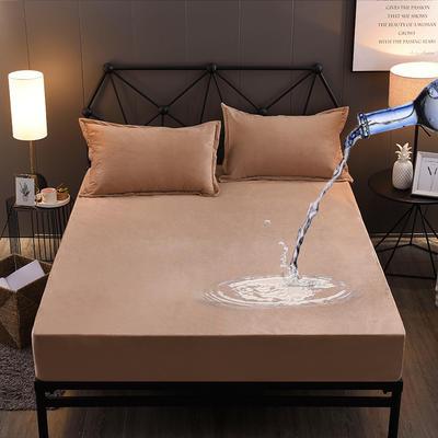 水晶绒防水床笠法莱绒法兰绒珊瑚绒床罩单件 枕套一对 吉祥驼