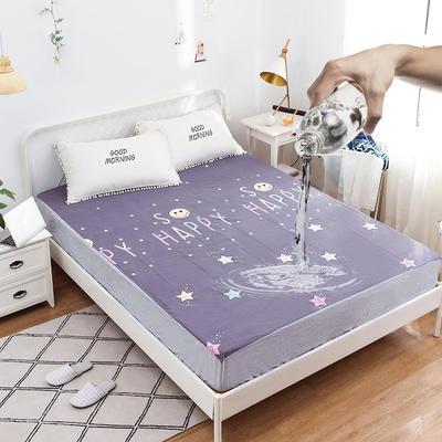 全棉防水床笠纯棉印花-----新增加花型 100cmx200cm 星月童话
