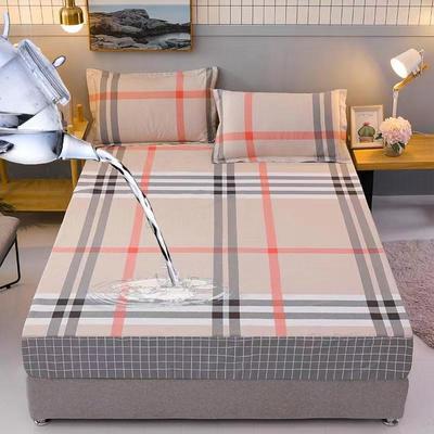 防水床笠全棉印花隔尿透气纯棉床罩床单床裙床套 100cmx200cm 奥莉维亚