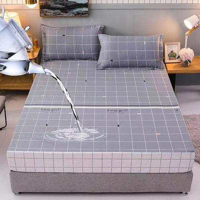 防水床笠全棉印花隔尿透气纯棉床罩床单床裙床套 100cmx200cm 古都威尔