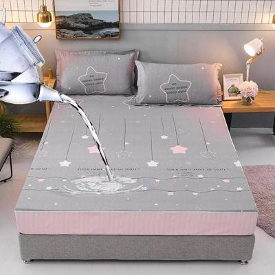 防水床笠全棉印花隔尿透气纯棉床罩床单床裙床套 100cmx200cm 浪漫星空