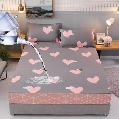 防水床笠全棉印花隔尿透气纯棉床罩床单床裙床套 100cmx200cm 桃乐丝之吻