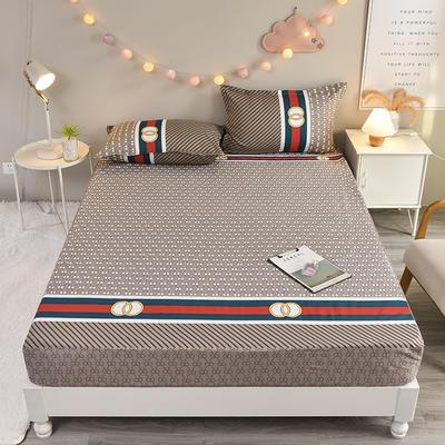 防水床笠全棉印花隔尿透气纯棉床罩床单床裙床套 100cmx200cm 路易斯