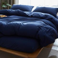 针织棉单品  床笠 180cmx200cm 藏青纯色