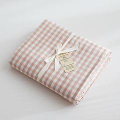北欧良品(7规格现货)水洗棉被套单品无印良品被套单件 120x150cm 蜜粉小格