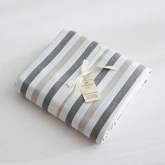 北欧良品(7规格现货)水洗棉被套单品无印良品被套单件 180x200cm 米咖条纹