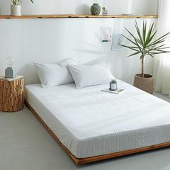 水洗棉单品床笠(12规格)单品床单(4规格)全棉色织水洗棉四件套单件 150cmx200cm+15 小白格