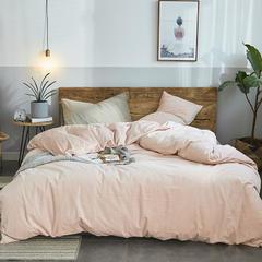 2018新品无印良品天鹅绒保暖四件套 1.2m(4英尺)床三件套 混搭-浅粉配米色
