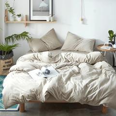 2018新品无印良品天鹅绒保暖四件套 1.2m(4英尺)床三件套 米色